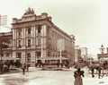 Queensland State Archives 2189 AMP society building corner Queen and Albert Streets Brisbane 1898.png