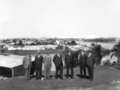 Queensland State Archives 3095 Bridge Board inspection of the site of north anchor pier Brisbane 27 June 1934.png