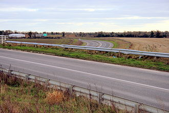 R125 road (Ireland) - R125 crossing the N2