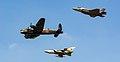 RAF BBMF Lancaster, Tornado GR4, F35B Lightning II (42666408295).jpg