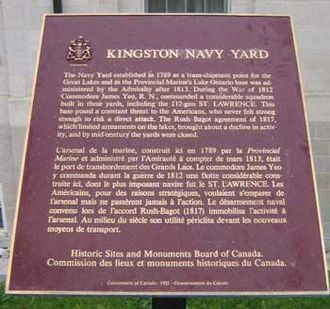 Kingston Royal Naval Dockyard - Kingston Royal Naval Dockyard plaque at Royal Military College of Canada