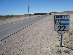 RN22 en las afueras de Zapala.JPG