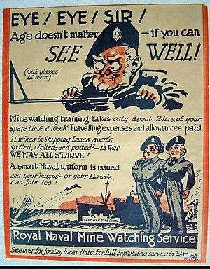 Royal Naval Minewatching Service - RNMWS Recruiting poster 2 circa 1953