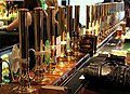 ROW OF OVER 20 HANDPUMPS AT THE OLDE WHITE HARTE PUB HULL OLD TOWN EAST YORKSHIRE SEP 2013 (9700307044).jpg
