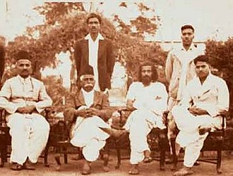 Rashtriya Swayamsevak Sangh - A rare group photo of six initial swayamsevaks taken on the occasion of a RSS meeting held in 1939