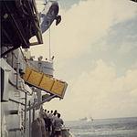 RZK Gidrofon flows between USS Lipan and the Carrier Battle Group in the Gulf of Tonkin.jpg