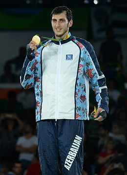 Radik Isaev at the 2016 Summer Olympics awarding ceremony 5.jpg