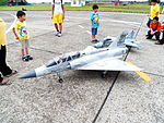 Radio-controlled ROCAF Mirage 2000-5DI and IDF Models Display at Hsinchu AFB Apron 20120602.jpg