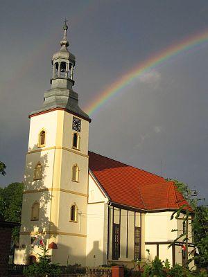 Radzowice - Image: Radzowice kosciol tecza