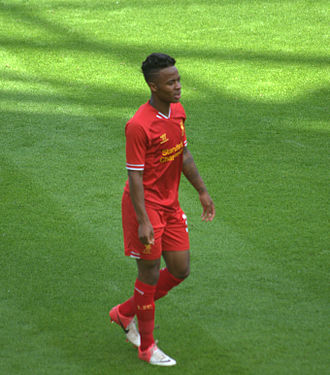 Raheem Sterling - Sterling playing for Liverpool in 2013