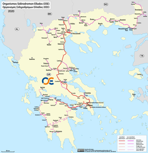 TrainOSE - Network of the Hellenic Railways