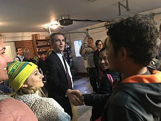 Ralph Northam - Northam meeting with volunteers in Blacksburg, Virginia, in 2017
