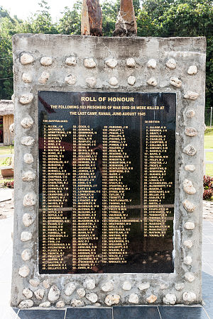 Last POW Camp Memorial - Name of the 183 prisoners who were killed at the last camp.
