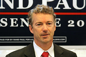 Rand Paul campaigning in Frankfort.