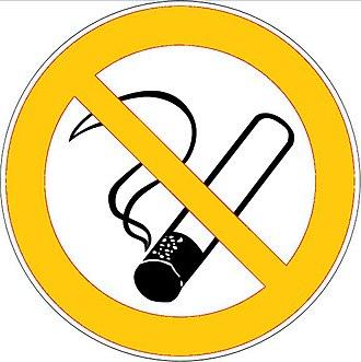 Smoking ban - Rauchverbot mit Ausnahmen