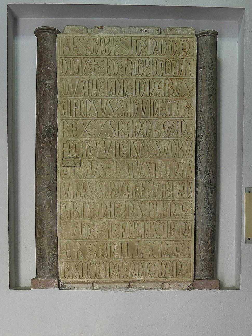 Reales Atarazanas de Sevilla. Lápida