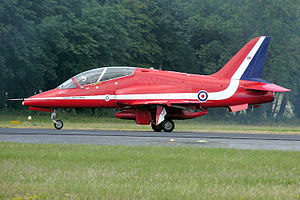 Hawk T1 of the Red Arrows