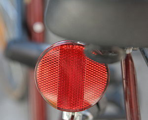 Safety reflector - Image: Red Bike Reflector