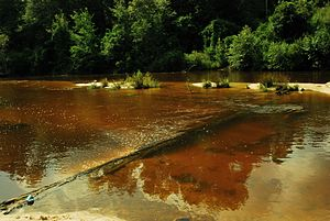 Perkinston, Mississippi - Red Creek north of Perkinston