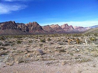Nevada State Route 160 - Red Rock Canyon National Conservation Area from State Route  160, west of Blue Diamond.
