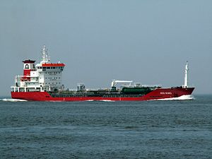 Red Wing approaching Port of Rotterdam, Holland 18-Jun-2006.jpg