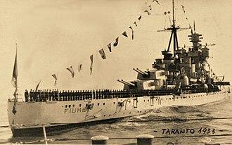 Italian cruiser Fiume - Image: Regia Nave Fiume 1