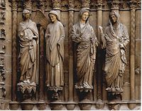 West Portal At Rheims Cathedral Annunciation Group