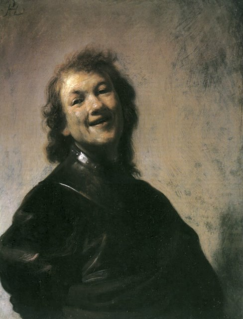 Rembrandt laughing 1628