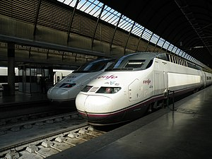 AVE Class 100 - Series 100 train in Seville station
