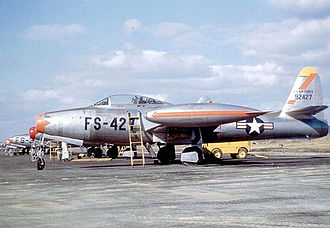 111th Reconnaissance Squadron - 136th FBW F-84E Thunderjet at Taegu Air Force Base (K-2), South Korea