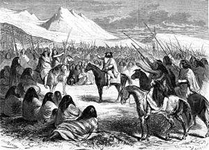 Orélie-Antoine de Tounens - De tounens with the Mapuche warriors