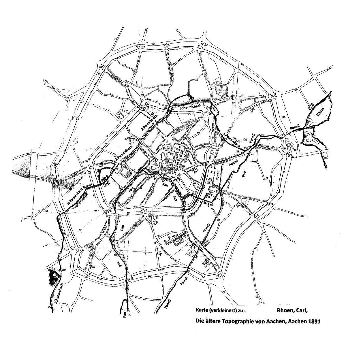 File Rhoen Die Aeltere Topographie Von Aachen Karte Jpg