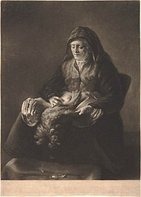 Richard Houston after Rembrandt - Woman plucking a fowl 34371-1680.jpg