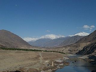 Chilas City in Gilgit-Baltistan, Pakistan