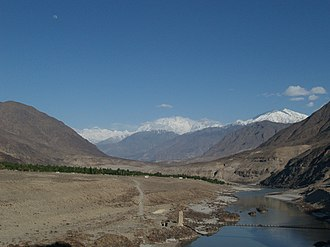 Chilas - Image: River indus near chilas