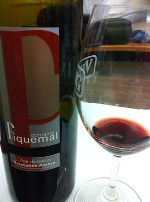 Rivesaltes AOC - An ambre (red) Rivesaltes made primarily from Grenache.