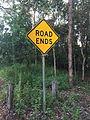 Road ends road sign in Australia.JPG