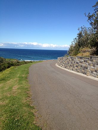Road - A beach road (Newcastle NSW Australia)