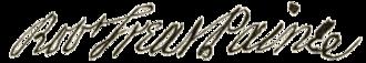 Robert Treat Paine - Image: Robert Paine signature
