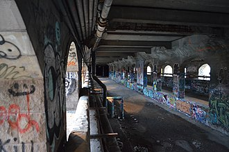 Rochester Subway - The aqueduct in 2015