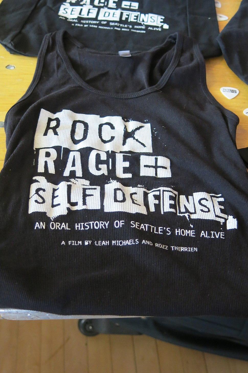 Rock, Rage and Self Defense shirt