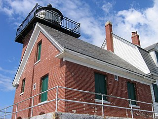 Rockland Harbor Breakwater Light lighthouse in Maine, United States