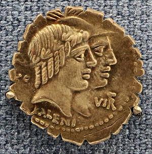 Quintus Fufius Calenus - Image: Roma, denario di quintus fufius calenus e marcus cordi, 70 ac