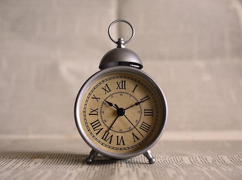 File:Roman numerals on alarm clock (Unsplash).jpg