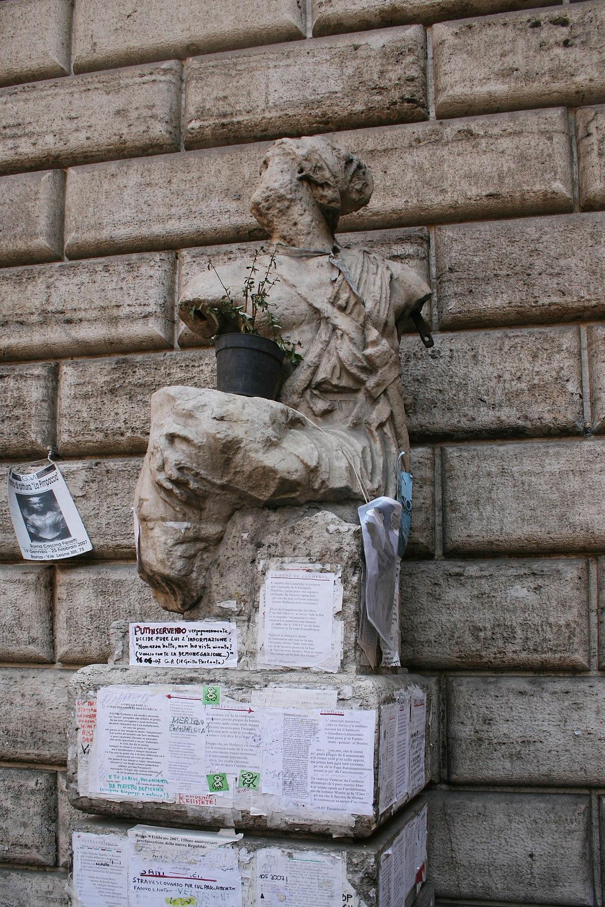 Pasqu n wikipedia la enciclopedia libre - La finestra di fronte roma ...