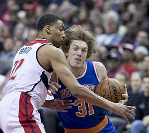 Ron Baker (basketball) - Baker with the Knicks in 2017