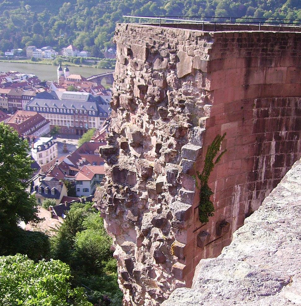 Rondell Heidelberger Schloss vom Stueckgarten