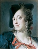 Rosalba Carriera - A Venetian Lady from the House of Barbarigo (Caterina Sagredo Barbarigo) - Google Art Project.jpg