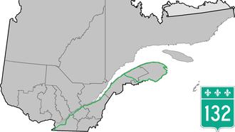 Quebec Route 132 - Image: Route 132 QC