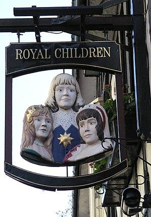Royal Children, Nottingham - The pub sign
